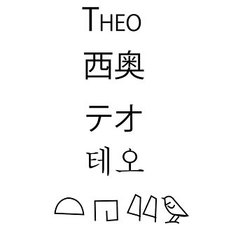 Theo International Names by cheekyghost