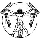Bacon Vitruvian Man by electrovista