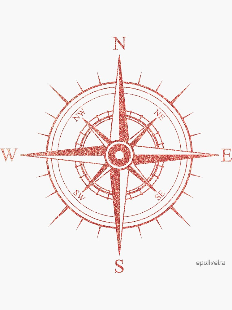 Rose Winds Compass Symbol by epoliveira