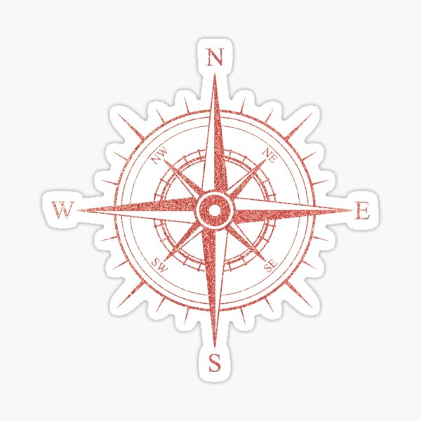 Rose Winds Compass Symbol Sticker