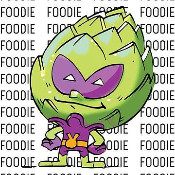 Artichoke Alien Foodie / Foodietoon  /  Veggie Superheroes by ProjectX23