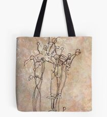 Flowers on Wallpaper Tote Bag