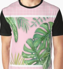 Green on Pink Graphic T-Shirt