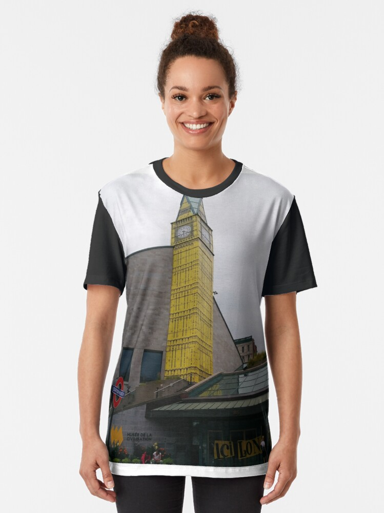 Alternate view of #Quebec, #Canada, Quebec #City, #Streets, #Buildings, #Places, #QuebecCity Graphic T-Shirt
