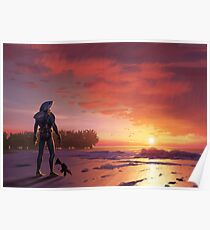 Chomp Sr. Staring Wistfully into the Sunset Poster