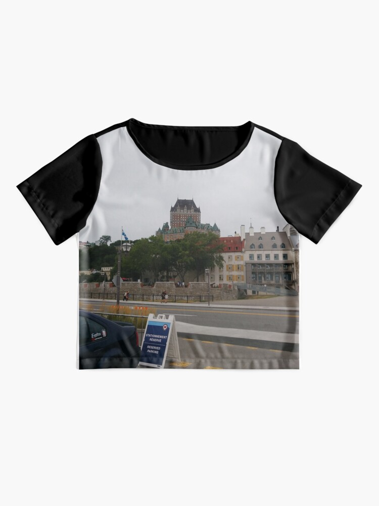 Alternate view of #Quebec, #Canada, Quebec #City, #Streets, #Buildings, #Places, #QuebecCity Chiffon Top