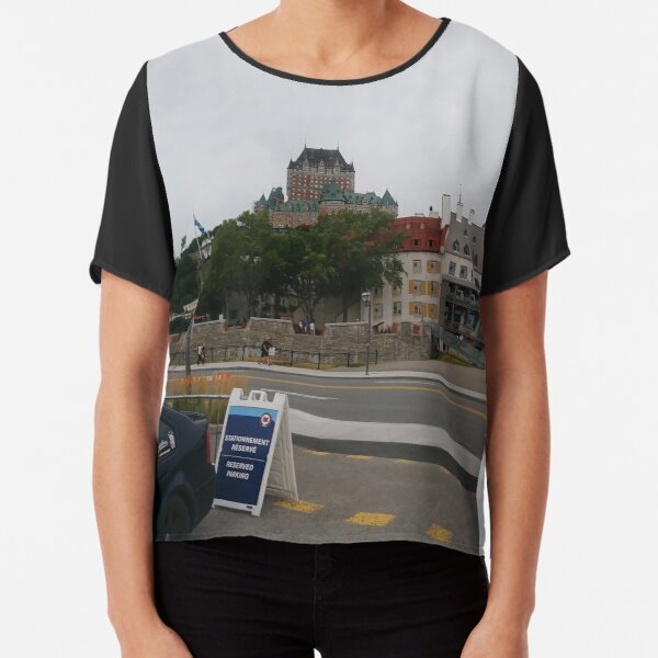 #Quebec, #Canada, Quebec #City, #Streets, #Buildings, #Places, #QuebecCity Chiffon Top