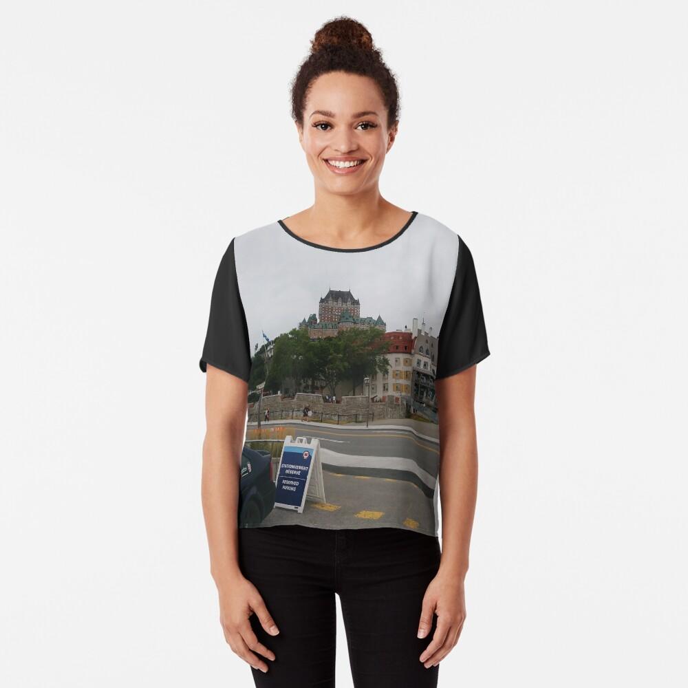 #Quebec, #Canada, Quebec #City, #Streets, #Buildings, #Places, #QuebecCity Chiffon Top