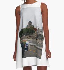 #Quebec, #Canada, Quebec #City, #Streets, #Buildings, #Places, #QuebecCity A-Line Dress