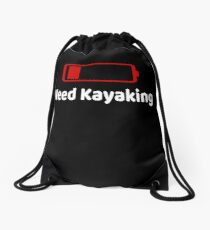 Low Battery Need Kayaking TShirt Activities Hobbies Gift Drawstring Bag