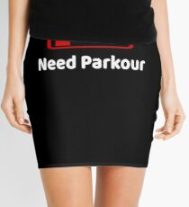 Low Battery Need Parkour TShirt Activities Hobbies Gift Mini Skirt