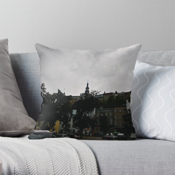 #Quebec, #Canada, Quebec #City, #Streets, #Buildings, #Places, #QuebecCity Throw Pillow