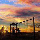 Children playground at Altamont Park on Mt Scott in Happy Valley OR during sunset by davidgnsx1