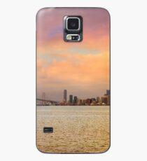 San Francisco CA city skyline and Oakland Bay Bridge during sunset panorama Case/Skin for Samsung Galaxy