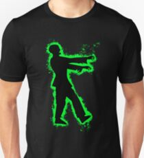 Zombie undead green and black silhouette Unisex T-Shirt