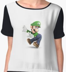 Super Smash Brothers Ultimate Luigi Fanart Chiffon Top