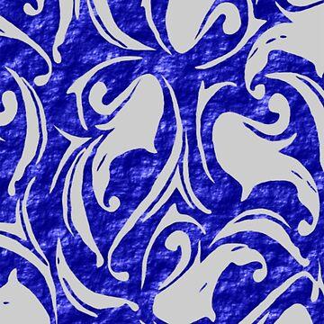 A Blue Grey Fabric Design  (4072 Views) by aldona