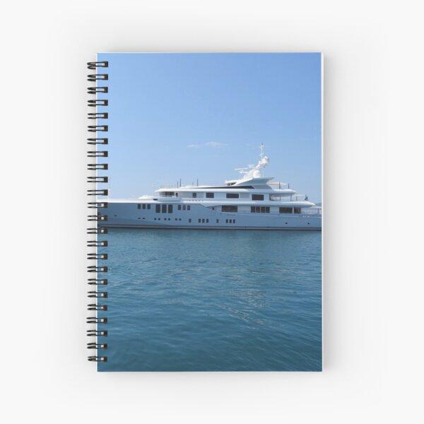 Cannes Luxury Yacht tranquil Mediterranean retreat Spiral Notebook