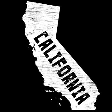 California Home Vintage Distressed Map Silhouette by YLGraphics