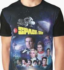 SPACE 1999 ART-002 YEAR 2 WITH LOGO with nuclear explosion behind the Moon Graphic T-Shirt