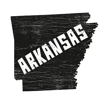 Arkansas Home Vintage Distressed Map Silhouette by YLGraphics