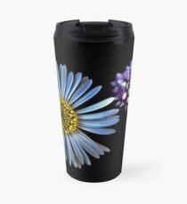 Tiny Wild Flowers On Black Travel Mug