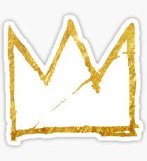 crown of basquiat Sticker