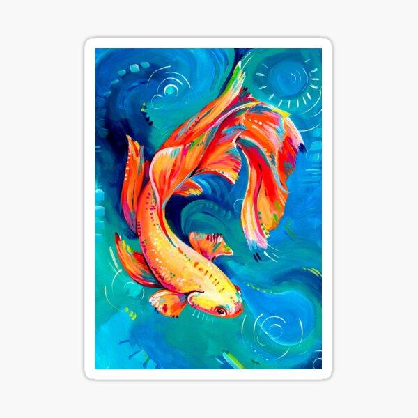Betta fish, Siamese fighting fish Sticker