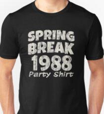Spring Break Party Shirt 1988 Vintage Disco Funk Unisex T-Shirt