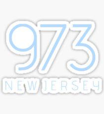 NEW JERSEY 973 • COLUMBIA BLUE Sticker