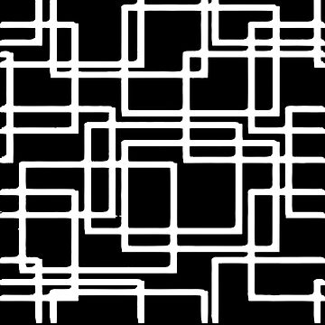 Interlocking White Squares Artistic Design by taiche