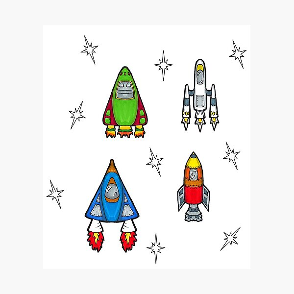 Spaceships Photographic Print