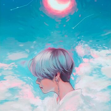 Taehyung Cloud and Moon Art (BTS) 방탄소년단 PHONE CASE by Caroline-Wang