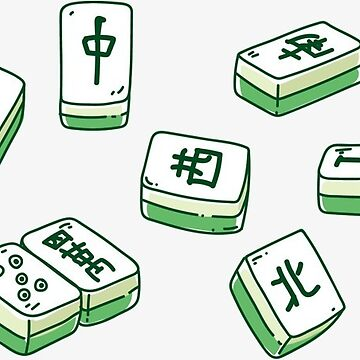 New - Mahjong green tiles Mah Jong game tile by DinksiStyle