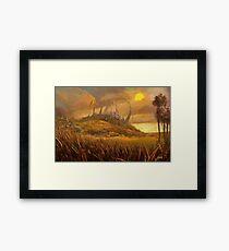 Halo Plains - Kingdom Of The Lost Angels Framed Print