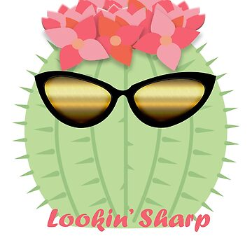 Lookin' Sharp Blooming Cactus with Sunglasses  by Keyma