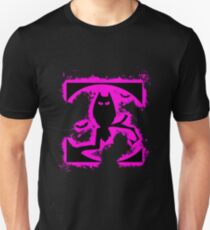 Bat halloween pink and black silhouette Unisex T-Shirt