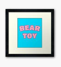 Bear Toy (Pink) Framed Print