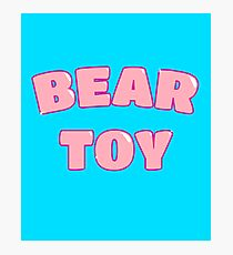 Bear Toy (Pink) Photographic Print