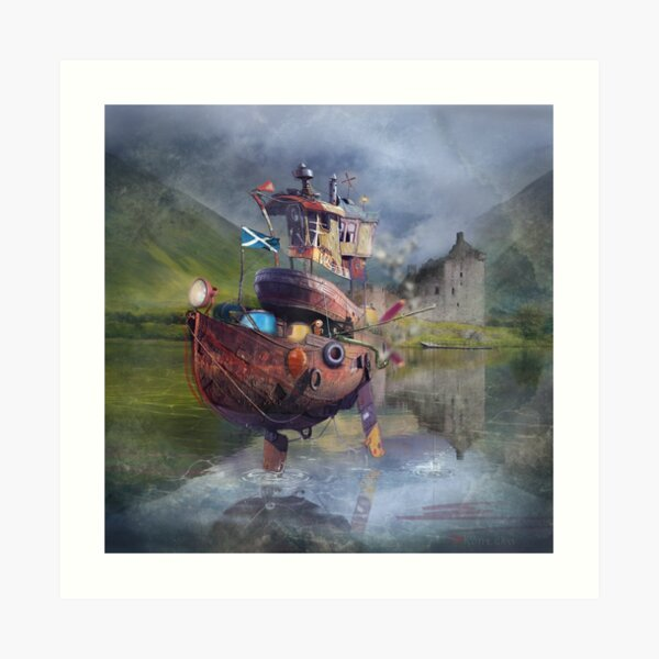 """ Fishing Boat ""  Art Print"