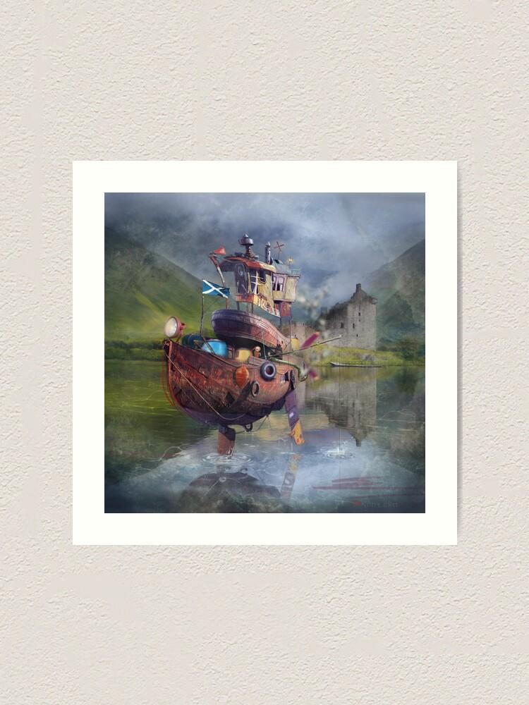 "Alternate view of "" Fishing Boat ""  Art Print"