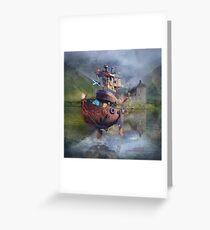 """ Fishing Boat ""  Greeting Card"