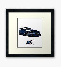 nissan gtr r34 front blue color Framed Print