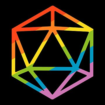 LGBT Pride Rainbow Polyhedral D20 Dice Tabletop RPG by pixeptional