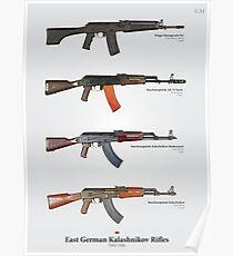 East German Kalashnikov Rifles Poster
