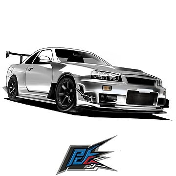 nissan gtr r34 front white color by naquash