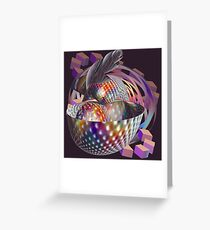 Space shell with pearl Greeting Card