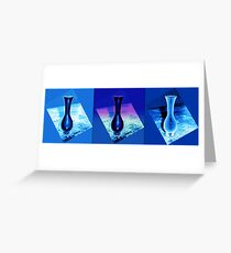 Blue Vases Greeting Card