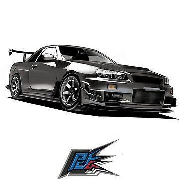 nissan gtr r34 front gray color by naquash