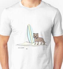 Surfing staffy Unisex T-Shirt